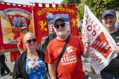 Ronnie Draper, BFAWU, Tolpuddle Martyrs Festival, Dorset. - Jess Hurd - 2010s,2019,banner,banners,BFAWU,Dorset,FEMALE,Festival,FESTIVALS,Gen Sec,member,member members,members,PEOPLE,person,persons,Ronnie Draper,Tolpuddle Martyrs Festival,Tolpuddle Martyrs' Festival,Trade