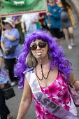 WASPI woman, Tolpuddle Martyrs Festival, Dorset. - Jess Hurd - 2010s,2019,Dorset,FEMALE,Festival,FESTIVALS,member,member members,members,pension,pensions,PEOPLE,person,persons,Tolpuddle Martyrs Festival,Tolpuddle Martyrs' Festival,Trade Union,Trade Union,Trade Un