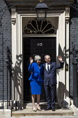 Theresa May leaving 10 Downing Street for her last PMQ time before resigning, Westminster, London - Jess Hurd - 2010s,2019,CONSERVATIVE,Conservative Party,conservatives,Downing Street,female,goodbye,leaving,London,MP,MPs,people,person,persons,Philip May,POL,political,politician,politicians,Politics,resignation,