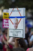 Fck Boris protest against Prime Minister Boris Johnson, Westminster, London. Auterity Kills - Jess Hurd - 24-07-2019