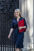 Liz Truss leaving Downing Street after their first cabinet meeting, Westminster, London - Jess Hurd - 2010s,2019,Boris Johnson,cabinet,CONSERVATIVE,Conservative Party,conservatives,Downing Street,FEMALE,leaving,Liz Truss,London,meeting,MEETINGS,MP,MPs,people,person,persons,POL,political,politician,pol