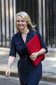 Liz Truss leaving Downing Street after their first cabinet meeting, Westminster, London - Jess Hurd - 25-07-2019