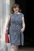 Nicky Morgan leaving Downing Street after their first cabinet meeting, Westminster, London - Jess Hurd - 25-07-2019