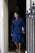 Priti Patel, leaving Downing Street after their first Boris Johnson cabinet meeting, Westminster, London. - Jess Hurd - 2010s,2019,Asian,Asians,BAME,BAMEs,Black,BME,bmes,Boris Johnson,cabinet,CONSERVATIVE,Conservative Party,conservatives,diversity,Downing Street,ethnic,ethnicity,FEMALE,leaving,London,meeting,MEETINGS,m