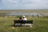 Shoeburyness East Beach tidal pool, River Thames, Essex - Jess Hurd - 2010s,2019,adult,adults,bather,bathers,bathing,beach,BEACHES,bench,coast,coastal,coasts,couple,COUPLES,East Beach,Essex,EXERCISE,FEMALE,Leisure,LFL,LIFE,Lifestyle,male,man,men,PEOPLE,person,persons,po