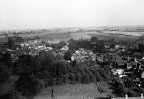 The mediaeval village of Lavenham, Suffolk, 1958 - Kurt Hutton - 1950s,1958,calm,country,countryside,EBF,Economic,Economy,English heritage,ENI,environment,environmental Issues,folk,heritage,idyll,idyllic,landscape,LANDSCAPES,Lavenham,nature,outdoors,outside,pastora