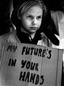 Young boy, protest against closure of local industries South Wales 1976. My Future is in Your HandsYoung boy, protest against closure of local industries South Wales 1976. My Future is in Your HandsYo... - John Sturrock - 1970s,1976,activist,activists,against,boy,BOYS,CAMPAIGN,campaigner,campaigners,CAMPAIGNING,CAMPAIGNS,child,CHILDHOOD,children,close,closed,closing,closure,closures,deindustrialisation,deindustrializat