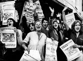 Picket against the extradition of Astrid Proll 1978, Bow Street Magistartes Court, London. Baader Meinhof Gang member Proll faced criminal charges in GermanyPicket against the extradition of Astrid Pr... - John Sturrock - 26-09-1978