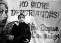 Jayaben Desai of the Grunwick dispute speaking, opening of Afia Begum House on International Womens Day 1984Jayaben Desai of the Grunwick dispute speaking, opening of Afia Begum House on International... - Melanie Friend - 08-03-1984