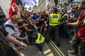 Scuffles with the police,police,policing Free Tommy Robinson protesting at the BBC Portland Place, London. - Jess Hurd - 2010s,2019,activist,activists,adult,adults,against,Anti Fascist,Anti Racism,anti racist,BBC,CAMPAIGNING,CAMPAIGNS,CLJ,DEMONSTRATING,demonstration,DEMONSTRATIONS,force,London,Metropolitan Police Servic