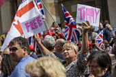 Free Tommy Robinson protest, BBC Portland Place, London - Jess Hurd - 2010s,2019,activist,activists,against,BBC,bigotry,CAMPAIGNING,CAMPAIGNS,DEMONSTRATING,demonstration,DEMONSTRATIONS,DISCRIMINATION,Far Right,Far Right,fascism,Fascist,Fascists,flag,flags,INEQUALITY,Lon