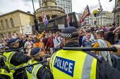 Scuffles with the police, Free Tommy Robinson protest, BBC Portland Place, London - Jess Hurd - 2010s,2019,activist,activists,adult,adults,against,baton,batons,BBC,bigotry,CAMPAIGNING,CAMPAIGNS,CLJ,DEMONSTRATING,demonstration,DEMONSTRATIONS,DISCRIMINATION,Far Right,Far Right,fascism,Fascist,Fasc