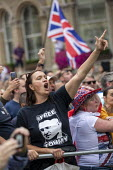Free Tommy Robinson protest, BBC Portland Place, London - Jess Hurd - 2010s,2019,activist,activists,against,BBC,bigotry,CAMPAIGNING,CAMPAIGNS,DEMONSTRATING,demonstration,DEMONSTRATIONS,DISCRIMINATION,Far Right,Far Right,fascism,Fascist,Fascists,FEMALE,INEQUALITY,London,