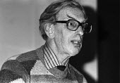 Eric Hobsbawm speaking Marxism Today joint Labour Party Communist Party meeting, London 1984 - NLA - 1980s,1984,communism,Communist Party,Eric Hobsbawm,Labour Party,Left,left wing,Leftwing,Leninist,London,Marxist,Marxists,meeting,MEETINGS,Party,socialist,socialists,SPEAKER,SPEAKERS,speaking,SPEECH