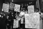 Ford sewing machinists lobby the TGWU in support of equal pay 1984 - NLA - 1980s,1984,activist,activists,against,banner,banners,CAMPAIGNING,CAMPAIGNS,DEMONSTRATING,Demonstration,equal pay,FEMALE,Ford,lobby,member,member members,members,people,person,persons,placard,placards,
