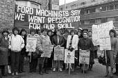 Ford sewing machinists lobby the TGWU in support of equal pay 1984 - NLA - 27-11-1984