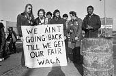 Ford workers picket line, Langley, Slough, Berkshire, 1978 hold out on the picket lines against the settlement of the strike for a �20 pay rise and a shorter week. The strike was a challenge to govern... - NLA - 1970s,1978,against,auto,automotive,Automotive Industry,BAME,BAMEs,Black,Black and White,BME,bmes,Car Industry,carindustry,DISPUTE,disputes,diversity,EARNINGS,ethnic,ethnicity,FACTORIES,factory,Ford,ga