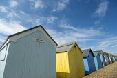 Beach huts, Southend, Essex. The Ark - Jess Hurd - 2010s,2019,Beach,Beach huts,BEACHES,Blue Sky,COAST,Essex,hut,huts,Leisure,LFL,LIFE,Lifestyle,OCEAN,PEOPLE,RECREATION,RECREATIONAL,rural,sea,seafront,SEAFRONTS,seashore,seaside,seasides,shore,shores,So