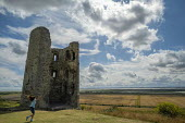 Hadleigh Castle, ruined fortification overlooking the Thames Estuary, Essex - Jess Hurd - 2010s,2019,Castle,child,CHILDHOOD,children,English Heritage,Essex,estuaries,Estuary,excursion,families,family,female,females,fortification,girl,girls,Hadleigh,having fun,holiday,holidaymaker,holidayma