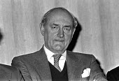 David Stirling, founder of the SAS, He created Great Britain 75 and recruited mainly ex-military men to take over the government in the event of civil unrest. Press conference in London with sympathet... - NLA - 09-04-1975