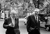 Harold Wilson (L), Jim Callaghan, Labour Party HQ London, 1970 a few days after election defeat - NLA - 24-06-1970
