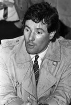 Derek Hatton, deputy leader of Liverpool council, press conference, Liverpool. 1984 - NLA - 22-02-1984