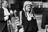 The Lord Chancellor Lord Hailsham Quentin Hogg, 1985, Judges Procession to Lord Chancellor's Breakfast, The House of Lords, Westminster, LondonThe Lord Chancellor Lord Hailsham Quentin Hogg, 1985, Jud... - Peter Arkell - 1980s,1985,Breakfast,ceremonial,ceremonies,ceremony,CLJ,House,houses,judge,judges,judges procession,law,London,Lord Chancellor's Breakfast,Lord Hailsham,male,man,men,people,person,persons,procession,Q