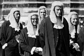 Judges Procession to Lord Chancellor's Breakfast, 1985, The House of Lords, Westminster, LondonJudges Procession to Lord Chancellor's Breakfast, 1985, The House of Lords, Westminster, LondonJudges Pro... - Peter Arkell - 1980s,1985,Breakfast,ceremonial,ceremonies,ceremony,CLJ,House,houses,judge,judges,Judges procession,law,London,Lord Chancellor's Breakfast,male,man,medieval traditions,men,people,person,persons,proces