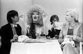 PORK by Andy Warhol, Roundhouse Theatre London 1971. Wayne County as Vulva (C) and Anthony Zanetta as B. Marlowe (R)PORK by Andy Warhol, Roundhouse Theatre London 1971. Wayne County as Vulva (C) and A... - Chris Davies - 1970s,1971,ACE,act,acting,actor,actors,Andy Warhol,Andy Warhol�s Pork,arts,culture,drama,DRAMATIC,entertainment,Jamie De Carlo Andrews,London,play,PLAYING,plays,Pork,Ridiculous Theatre Comp,stage,t