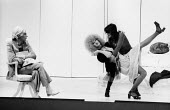 PORK by Andy Warhol, Roundhouse Theatre London 1971. Anthony Zanetta as B. Marlowe (L) Wayne County as Vulva (C) and  Kathy Dorritie as Pork (R)PORK by Andy Warhol, Roundhouse Theatre London 1971. Ant... - Chris Davies - 1970s,1971,ACE,act,acting,actor,actors,Andy Warhol,Andy Warhol�s Pork,arts,culture,drama,DRAMATIC,entertainment,Jamie De Carlo Andrews,Kathy Dorritie,London,play,PLAYING,plays,Pork,Ridiculous Theat