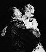 Mark Dignam as Polonius and Marianne Faithfull as Ophelia in Hamlet by William Shakesepeare directed by Tony Richardson Roundhouse Theatre London 1969Mark Dignam as Polonius and Marianne Faithfull as... - Patrick Eagar - 17-02-1969