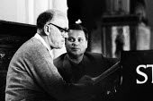 Pianist Sviatoslav Richter and German baritone singer Dietrich Fischer-Dieskau rehearsing, 1965, St Peter & St Paul Church for the Aldeburgh Festival - Romano Cagnoni - 20-06-1965