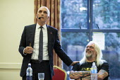 Chris Williamson MP speaking, Tosh McDonald, General Election now! meeting Nottingham - John Harris - 15-08-2019