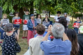 Detroit, Michigan, USA: Rashida Tlaib speaking, Jewish Shabbat service to support Congresswoman Rashida Tlaib after the government of Israel denied her permission to visit Israel and Palestine. Organi... - Jim West - Divestment and Sanctions movement,2010s,2019,activist,activists,against,America,american,americans,BAME,BAMEs,bds,BME,bmes,Boycott,CAMPAIGNING,CAMPAIGNS,Congresswoman,Democrat,Democratic Party,Democra