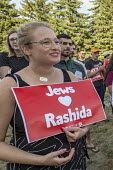 Detroit, Michigan, USA: Jewish Shabbat service to support Congresswoman Rashida Tlaib after the government of Israel denied her permission to visit Israel and Palestine. Organised by Jewish Voice for... - Jim West - 16-08-2019