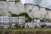 Victorian era hotels beneath the White Cliffs of Dover, Kent - Philip Wolmuth - Economy,2010s,2019,accommodation,chalk,cliff,cliffs,COAST,EBF,economic,Economy,holiday,holidaymaker,holidaymakers,holidays,hotel,hotels,housing,Leisure,LFL,LIFE,OCEAN,PEOPLE,person,persons,port,ports,