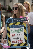 Prospect members one day pay strike, Science Museum Group, London. Pay levels are well below those in other London museums and in some cases do not even reach the London Living Wage - Martin Mayer - 30-08-2019