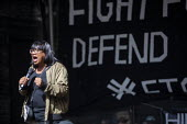 Diane Abbott MP speaking Stop The Coup, defend democracy protest, Downing Street, Westminster, London. - Jess Hurd - 31-08-2019