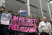 Protest against threatened extradition of imprisoned WikiLeaks journalist Julian Assange, Home Office, London - Stefano Cagnoni - 02-09-2019