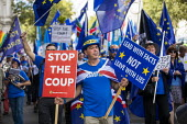 Stop The Coup protests for and against the government during the Brexit vote, Westminster, London - Jess Hurd - 03-09-2019
