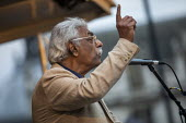 Tariq Ali addressing Stop Boris Johnson - General Election Now, People's Assembly Against Austerity protest, Parliament Square, Westminster, London. - Jess Hurd - 03-09-2019