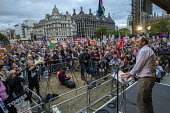 Kevin Courtney NEU speaking Stop Boris Johnson - General Election Now, People's Assembly Against Austerity protest, Parliament Square, Westminster, London. - Jess Hurd - 03-09-2019