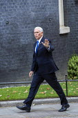 Mike Pence is welcomed by Boris Johnson into No. 10 Downing Street, Westminster, London. - Jess Hurd - 2010s,2019,CONSERVATIVE,Conservative Party,conservatives,Downing Street,London,Mike Pence,POL,political,POLITICIAN,POLITICIANS,Politics,Republican Party,republicans,Street,wave,waving,Westminster