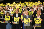 Freedom for Ocalan, TUC Congress, Brighton 2019. - Jess Hurd - 2010s,2019,Abdullah Ocalan,Brighton,Conference,conferences,Freedom,Freedom for Ocalan,Human Rights,kurd,kurdish,kurds,member,member members,members,muslim,muslims,PKK,placard,placards,right,Rights,tra