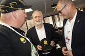 Jeremy Corbyn meeting striking workers from Harland and Wolf shipyard and care work strikers, TUC Congress, Brighton 2019. - Jess Hurd - 10-09-2019