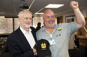 Jeremy Corbyn meeting striking workers from Harland and Wolf shipyard and care work strikers, TUC Congress, Brighton 2019. - Jess Hurd - 2010s,2019,Brighton,Conference,conferences,Jeremy Corbyn,Labour Party,meeting,MEETINGS,member,member members,members,MP,MPs,people,POL,political,politician,politicians,Politics,STRIKE,strikers,STRIKES