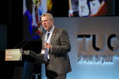 Mark Serwotka PCS speaking TUC Conference, Brighton, 2019 - John Harris - 2010s,2019,Conference,conferences,Gen Sec,Mark Serwotka,member,member members,members,PCS,SPEAKER,SPEAKERS,speaking,SPEECH,Trade Union,Trade Union,Trade Unions,Trades Union,Trades Union,Trades unions,