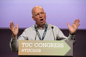 Matt Wrack FBU speaking TUC Conference, Brighton, 2019 - John Harris - 2010s,2019,Conference,conferences,FBU,Gen Sec,member,member members,members,SPEAKER,SPEAKERS,speaking,SPEECH,Trade Union,Trade Union,Trade Unions,Trades Union,Trades Union,Trades unions,TUC,TUC Congre