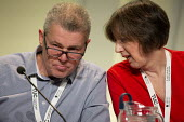 Mark Serwotka PCS, Frances O'Grady TUC Conference, Brighton, 2019 - John Harris - 2010s,2019,Conference,conferences,FEMALE,Frances O'Grady,Gen Sec,Mark Serwotka,member,member members,members,O grady,O'Grady,PCS,people,person,persons,Trade Union,Trade Union,Trade Unions,Trades Union