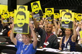 Freedom for Ocalan, TUC Conference, Brighton, 2019. Roger McKenzie, Unison - John Harris - 13-09-2019